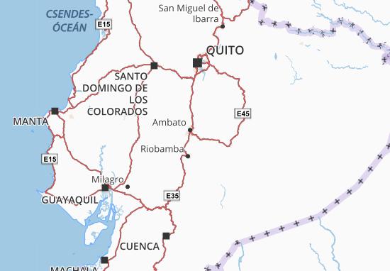 San Pedro de Pelileo Map