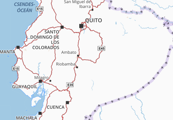 Baños de Agua Santa Map