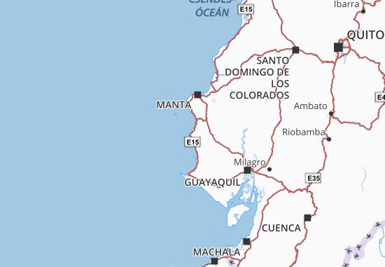 Puerto Lopez Map
