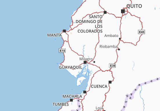 Kaart Plattegrond Isidro Ayora