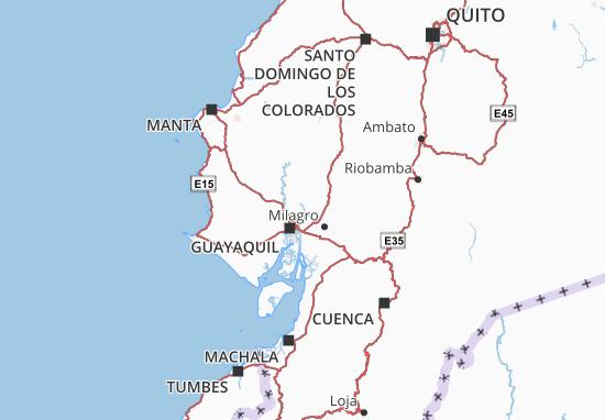 Kaart Plattegrond Guayas