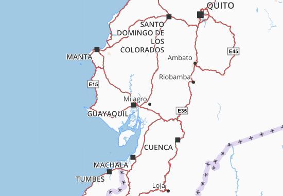 Karte Stadtplan Samborondón