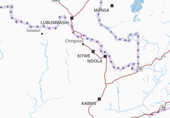 Mapa Plano Copperbelt