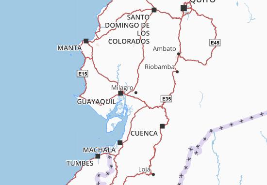San Jacinto de Yaguachi Map
