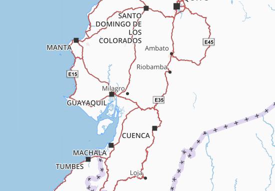 Karte Stadtplan Naranjito