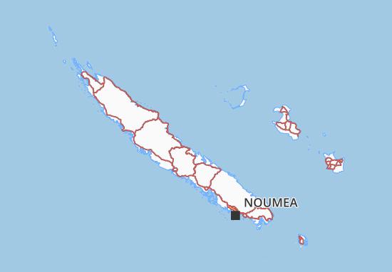 carte de la nouvelle calédonie