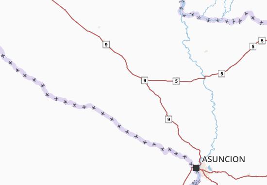 Presidente Hayes Map