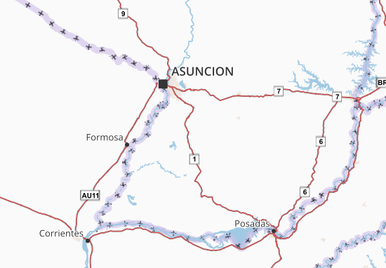Paraguari Map