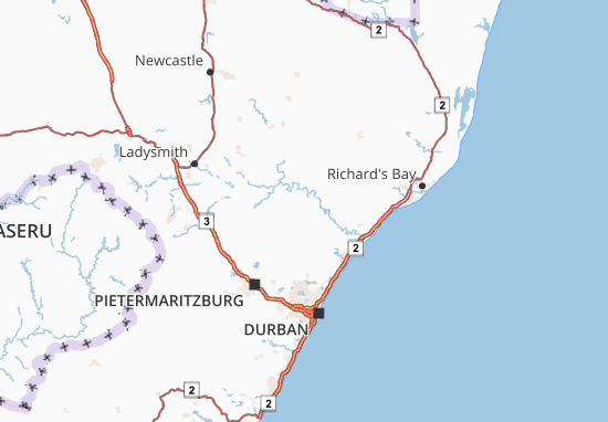 KwaZulu-Natal Map