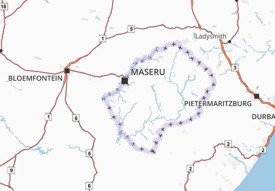 Map Of Maseru Michelin Maseru Map ViaMichelin - maseru map