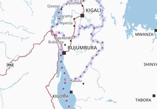 Mapa Plano Gitega