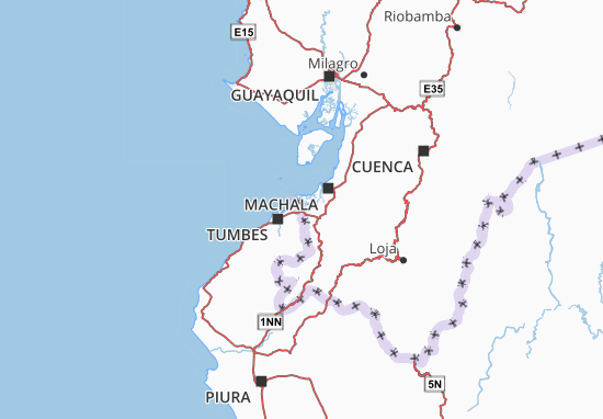 Huaquillas Map