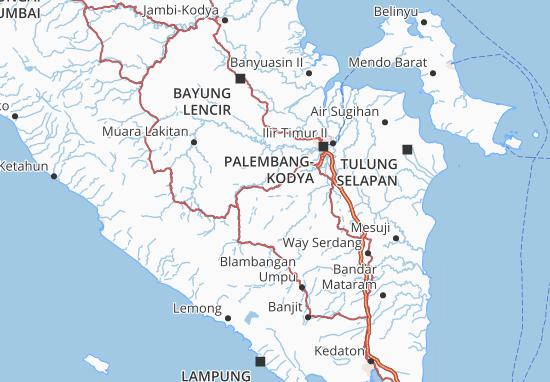 Sumatera Selatan Map