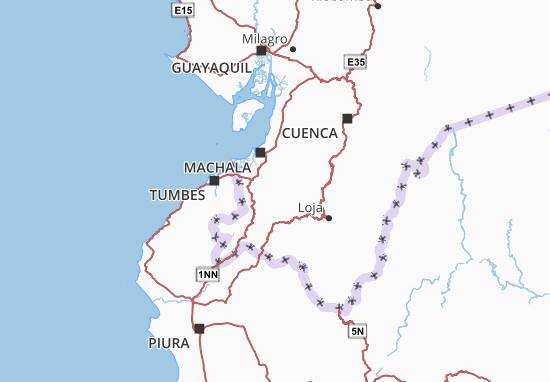 Karte Stadtplan Piñas