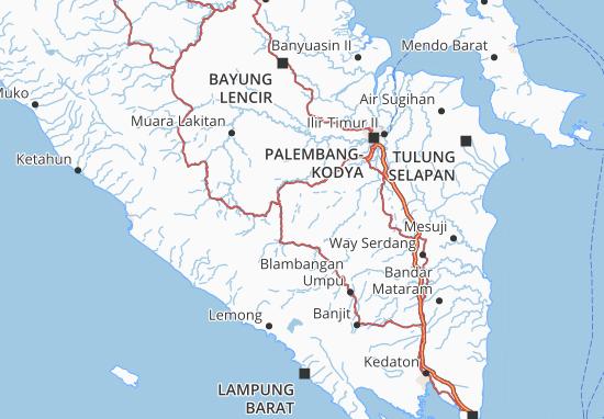 Muara Enim Map