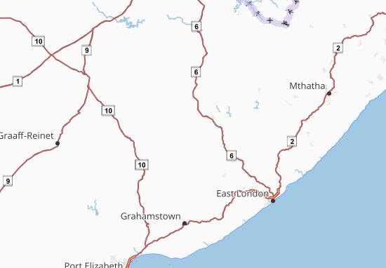 Oos-Kaap Map