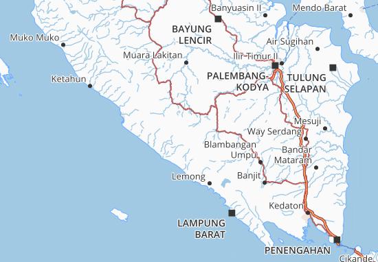 Map Of Kota Pagar Alam Michelin Kota Pagar Alam Map Viamichelin