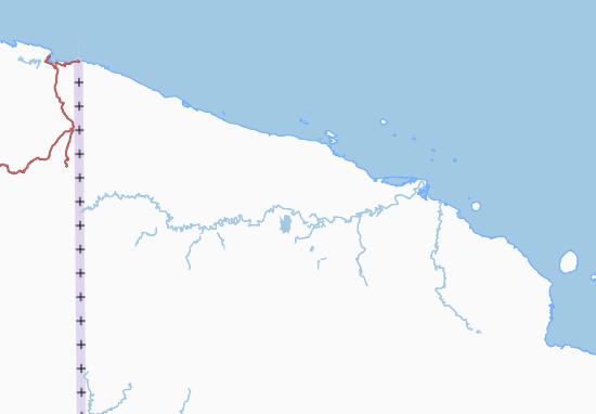 Mapa Plano East Sepik