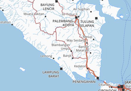 Ogan Komering Ulu Map