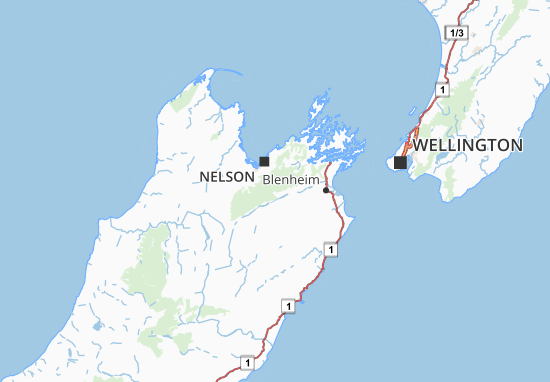 Carte-Plan Nelson-Marlborough