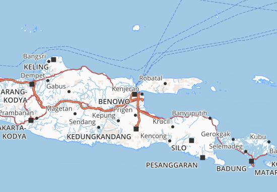 Carte-Plan Kota Surabaya