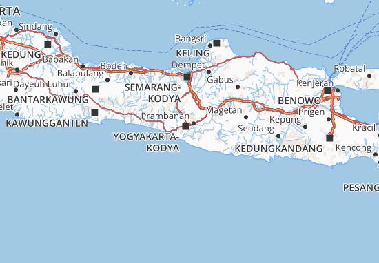 Mapa Daerah Istimewa Yogyakarta