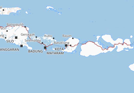 Kaart Plattegrond Lombok Barat