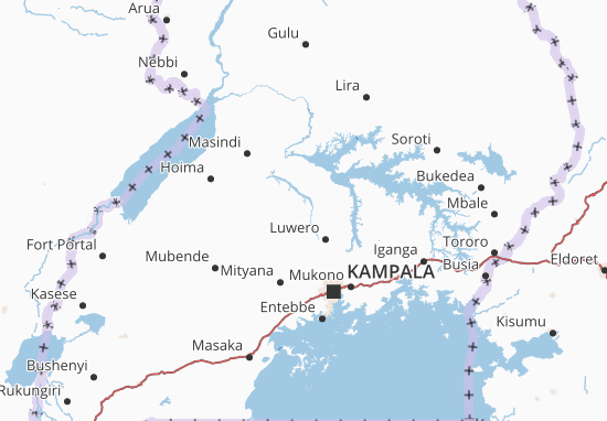Carte-Plan Uganda