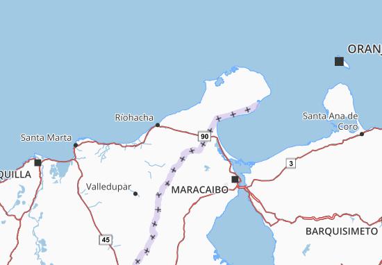 Carte-Plan La Guajira