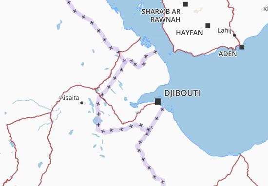 Carte-Plan Djibouti