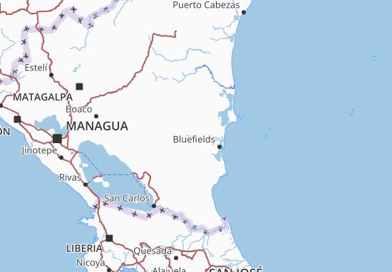 Región Autónoma del Atlántico Sur Map