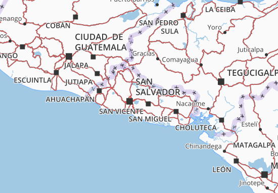 Cuscatlán Map