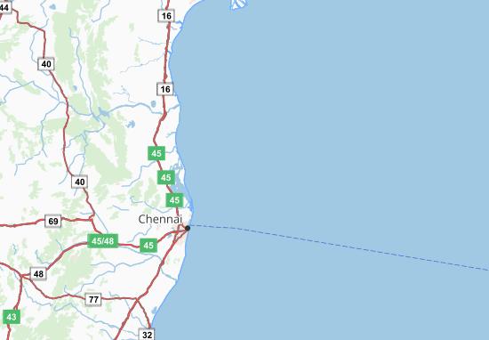 Carte-Plan Pondicherry