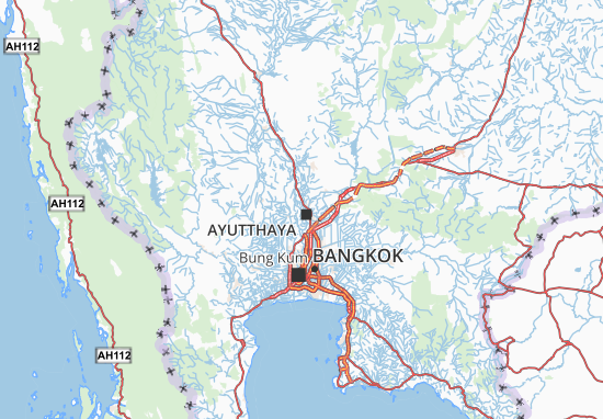 Phra Nakhon Si Ayutthaya Map