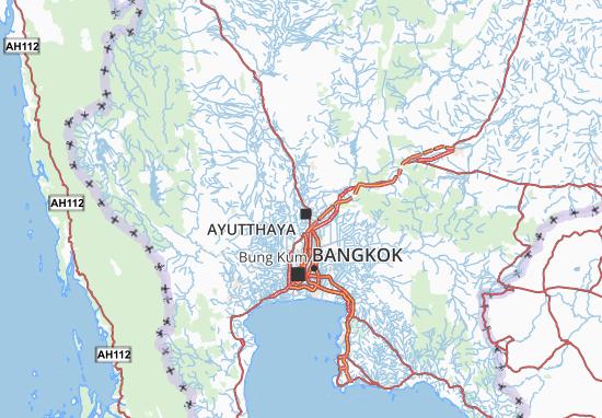 Carte Thailande Ayutthaya.Carte Detaillee Phra Nakhon Si Ayutthaya Plan Phra Nakhon
