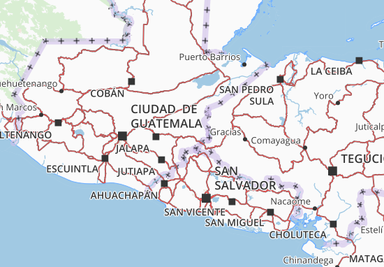 Map of Chiquimula - Michelin Chiquimula map - ViaMichelin