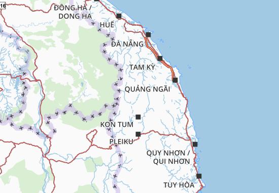 Map Of Kon Tum Michelin Kon Tum Map Viamichelin