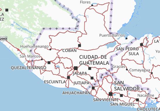 Baja Verapaz Map