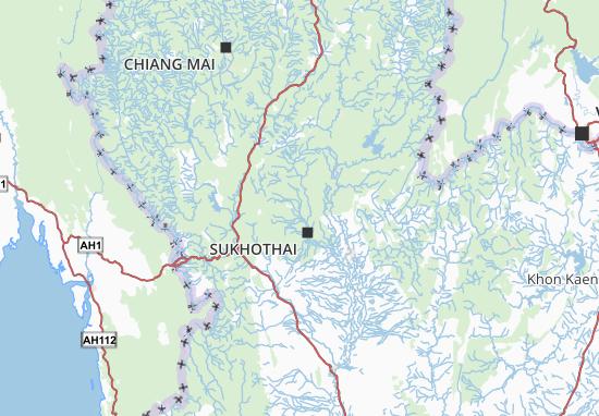Carte Thailande Sukhothai.Carte Detaillee Sukhothai Plan Sukhothai Viamichelin