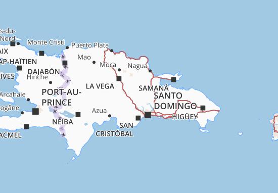 Kaart Plattegrond República Dominicana