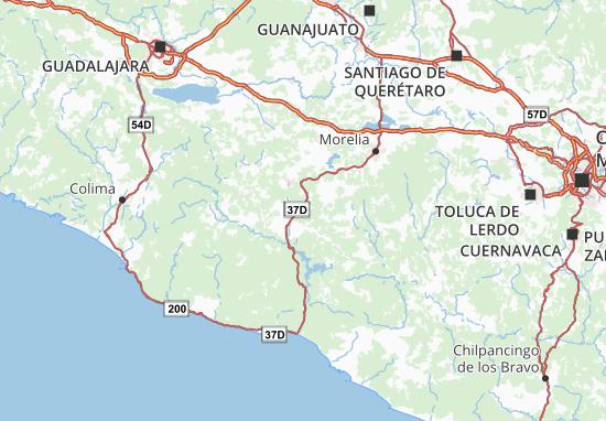 Carte-Plan Michoacán de Ocampo