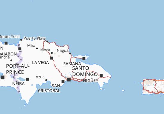 Kaart Plattegrond Samaná