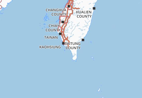 Carte-Plan Pingtung County
