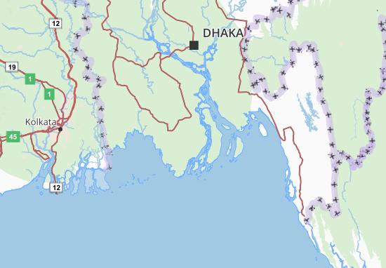 Barisal Map