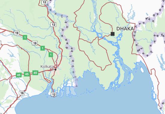Carte-Plan Khulna