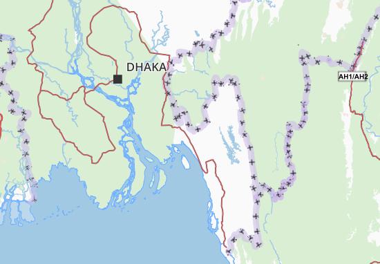 Kaart Plattegrond Chittagong