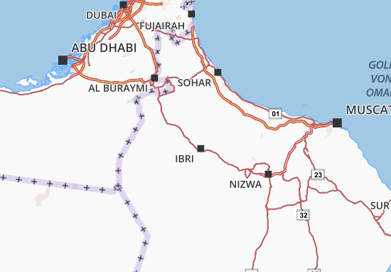 Carte-Plan Al Dhahirah