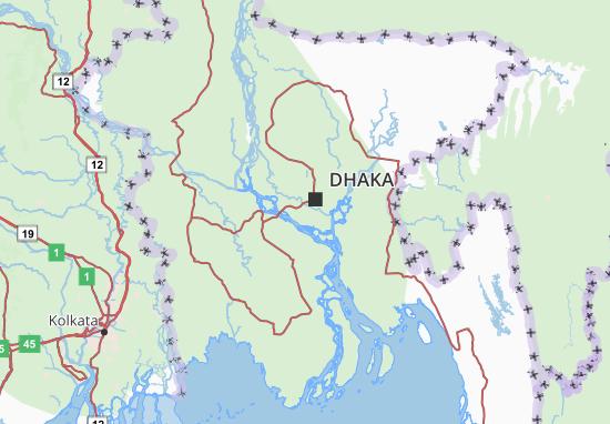 Kaart Plattegrond Bangladesh