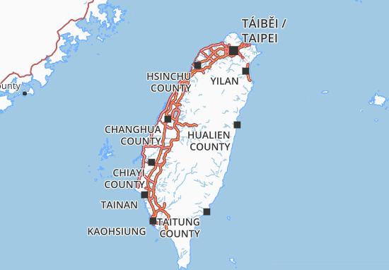 Carte-Plan Nantou County