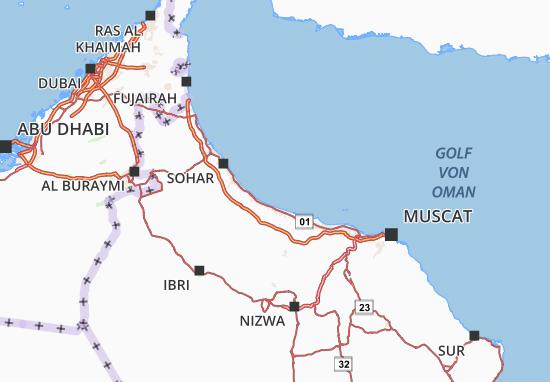 Carte-Plan Al Batinah